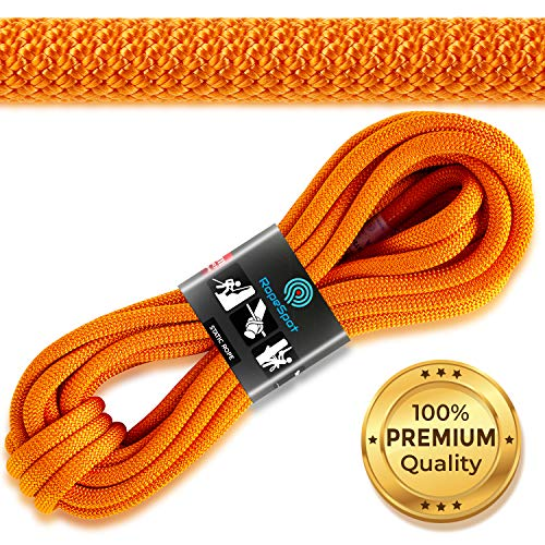 Powerful Static Rock Climbing Rope  High Strength Nylon Static Climbing Rope  Rock amp Mountaineering Climbing Gear  105mm Rescue Rope  Heavy Duty Rope  10m Hiking Rope  Orange Safety Rope