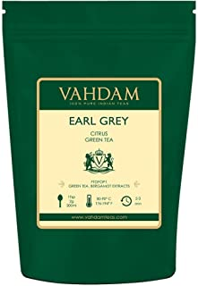 VAHDAM, Earl Grey Citrus Green Tea Loose Leaf (100 Cups) | POWERFUL & STRONG ANTI-OXIDANTS | Loose Leaf Earl Grey Green Tea With Pure Bergamot Oil | Brew as Hot Tea or Iced Tea | 3.53oz (Set of 2)