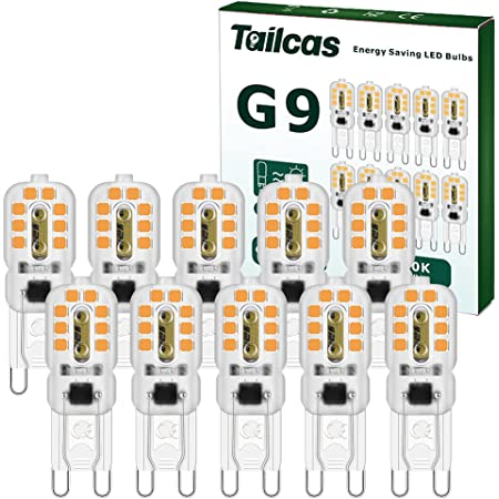 Wowled G9 DEL Ampoule Non-dimmable Pack de 3 W équivalent 30 W Blanc Froid