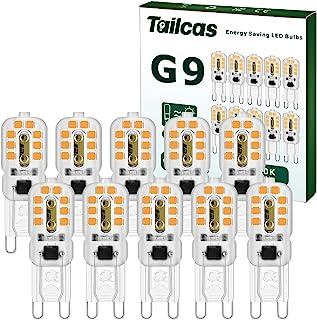 Ampoule 3W G9 LED, G9 LED Lampe Lumière Blanc Chaud (30W Ampoules Halogène Équivalent) 360 Degrés 300LM 3000K AC/DC 220-24...