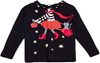 bossini 易穿冬季儿童小女孩圣诞连帽长袖礼物 T 恤黑色美码 3T - 16 黑色 110,US Size 5/6