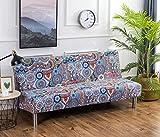 Cornasee Funda de Clic-clac elástica, Cubre/Protector sofá de 3 plazas,impresión Floral,M