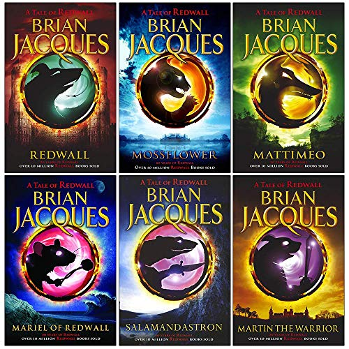 Redwall Book Series 1 to 6 Books Collection Set By Brian Jacques (Redwall, Mossflower, Mattimeo, Mariel Of Redwall, Salamandastron, Martin the Warrior)