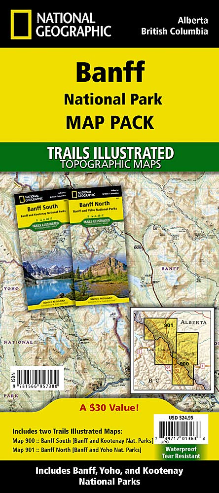 Download Banff National Park Map Pack Bundle] (National Geographic Trails Illustrated Map) 