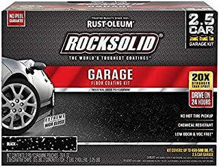 Rust-Oleum 318697 RockSolid Garage Floor Coating Kit, Black