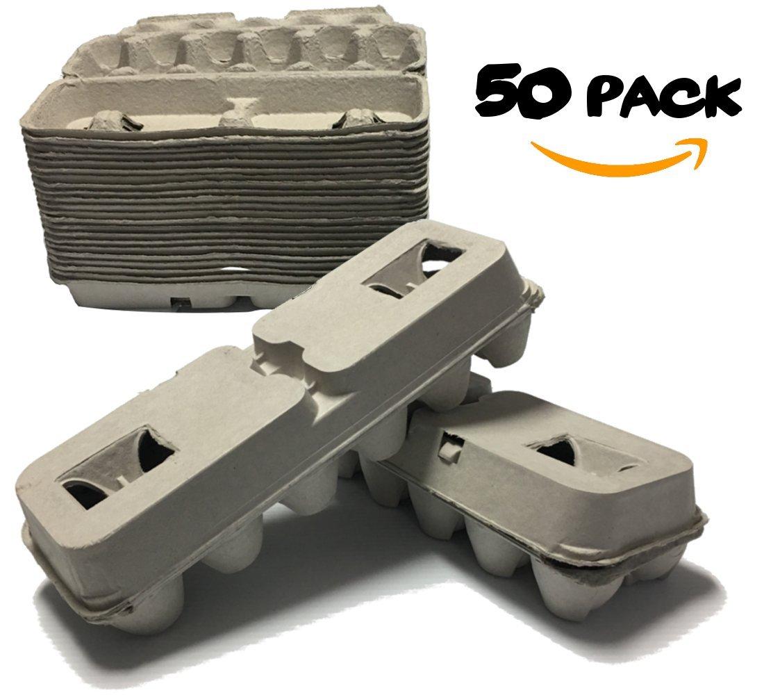 Amazon Com Blank Egg Cartons Cheap Bulk 50 Pack Plain Empty Cheap Egg Cartons Reusable Cardboard Egg Cartons Kitchen Dining