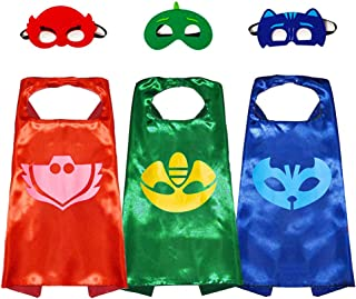 Superhero Capes with Masks, Halloween Christmas Dress up Costumes for Boys Birthday Party Favors for Kids