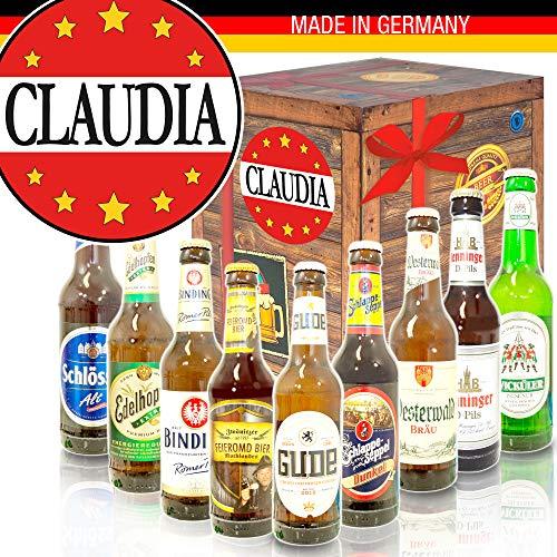 Claudia + Biersorten aus Deutschland + Claudia Geschenk Namenstag