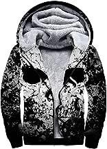 MOONLIT DECAYED Full-Zip Fleece Jacket for Men's, Pullover Hoodies Sweater Winter Sweatshirt Wool Warm Thick Coats