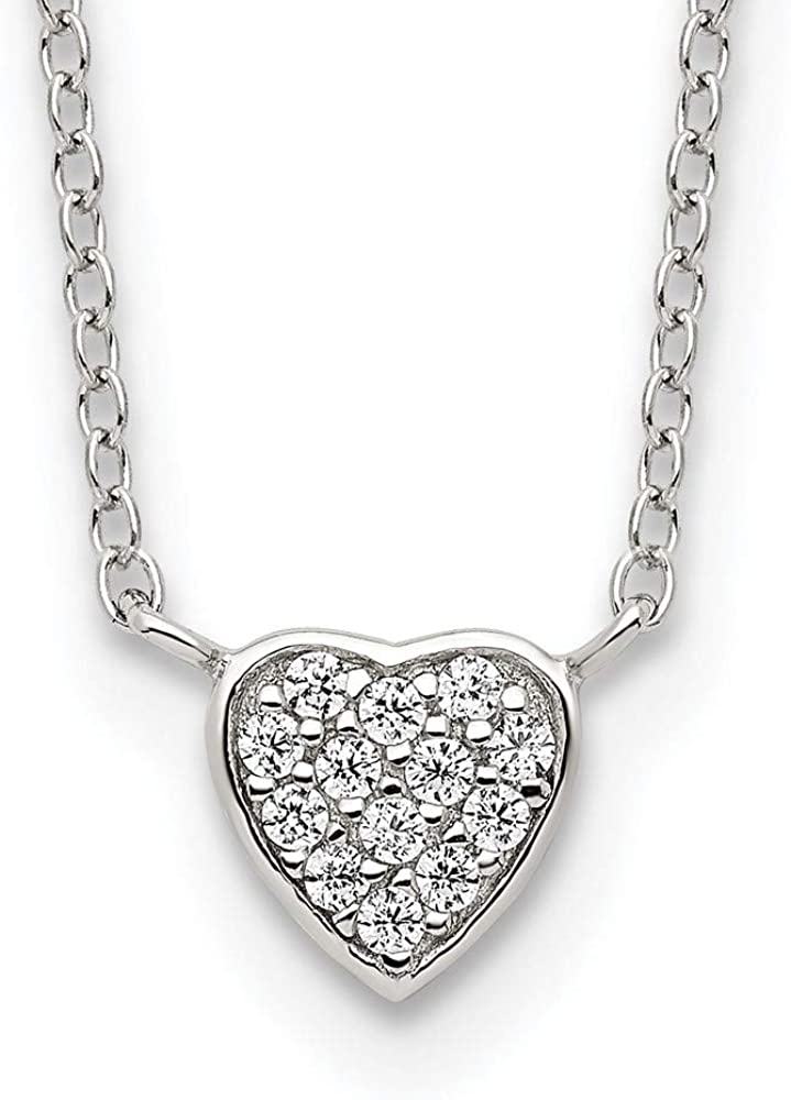 Chain Necklace Sacramento Mall White Sterling Silver Themed CZ Max 77% OFF Zirconia Cubic Cl