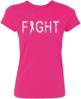 Kropsis Fight Ribbon Breast Cancer Awareness Women's T-Shirt