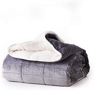 DreamZ Weighted Blanket Heavy Gravity Deep Relax Ultra Soft 9KG Adults Grey M(198cm x 122cm) & 9KG M(198cm x 122cm) & 9KG