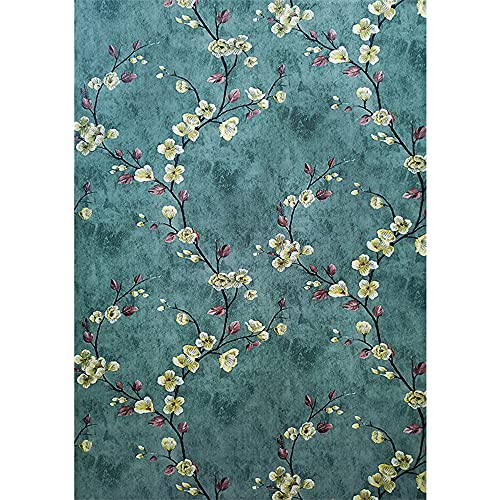 Self Adhesive Vinyl Vintage Floral Shelf Liner Contact Paper Peel and Stick Vintage Floral Wallpaper for Walls Cabinets Dresser Drawer Furniture Decal Removable 17.7X117 Inches