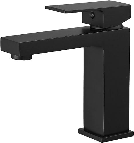new arrival GIMILI Black Bathroom Faucet,Single Handle Bathroom Sink Faucet,Single new arrival Hole Bathroom Vanity online sale Faucet Bathroom Sink Faucet sale
