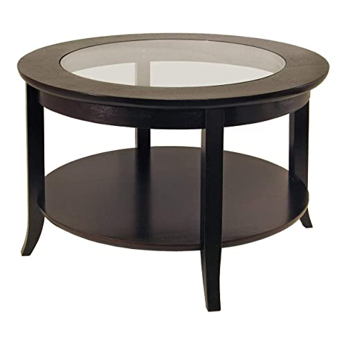 Captivant Winsome Wood Round Coffee Table, Espresso