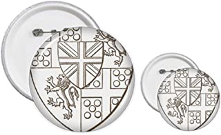 Baroque Art Bouclier Lion Illustration Patter Pins Badge Design Kit Artisanat