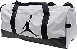 Air Jordan Jumpman Duffel Sports Gym Bag 8A1913 Wet/Dry Shoe Pocket Water Resistant (Grey/Black)