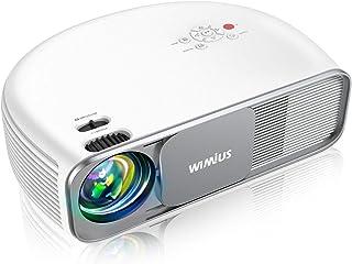 WiMiUS プロジェクター 8000ルーメン Bluetooth機能搭載 リアル1080P解像度 4K対応 台形補正 ズーム機能 USB/HDMI/AV/VGA対応 SWITCH/パソコン/IOS/Android/DVDなど接続可能
