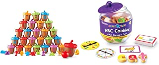 Learning Resources Alphabet Acorns Activity Set, 78 Pieces, Visual & Tactile Learning Toy, Ages 3+ & Goodie Games ABC Cook...