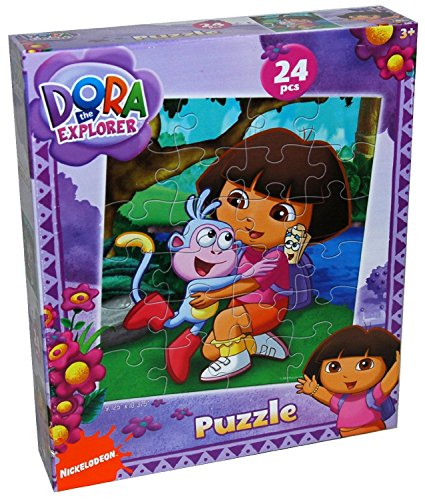 Nickelodeon Dora The Explorer 24-Piece Jigsaw Puzzle, Styles Vary by