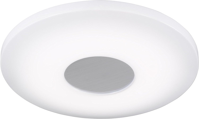 WOFI LED Deckenleuchte, Plastik, Integriert, 25 W, Wei,  34 cm