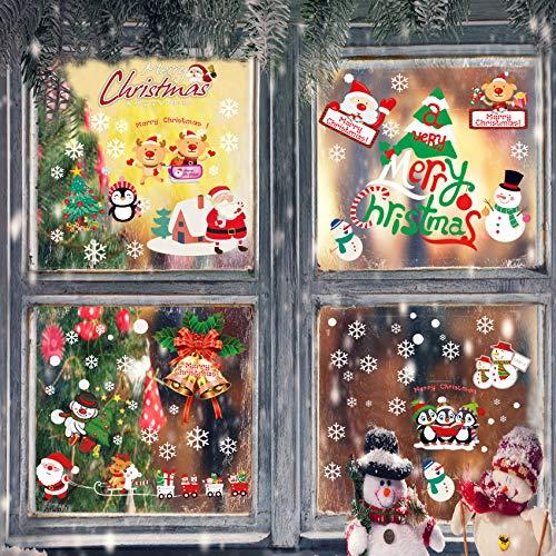 269 PCS Weihnachtsfenster Aufkleber, Fensterdeko Weihnachten, Party Neujahrsbedarf, DIY-Dekorationen für Türen, Fenster und Vitrinen, Weihnachten Theme Party, PVC Statische Aufkleber