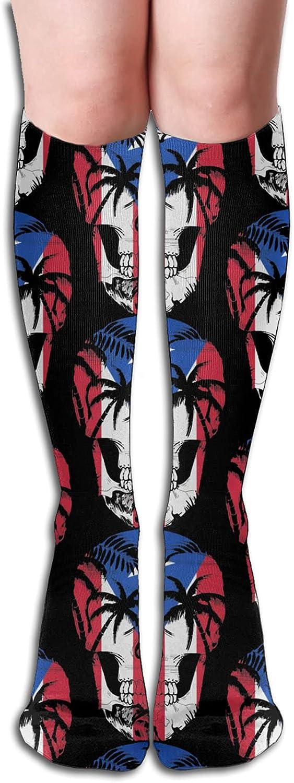 55% OFF Puerto Rico Skull Socks for Women Men favorite Runnin Athletic