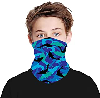 Kids Boys Girls Cute Printed Bandana, Cooling Neck Gaiter Seamless Face Scarf Rave Mouth Cover for Summer UV Protection