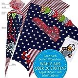 Nähset + Anleitung für Schultüten- bzw. Zuckertütenbezug, 70 cm mit vielen...