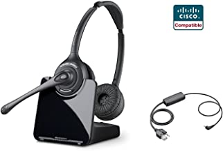 Avaya Compatible Plantronics CS520 VoIP Wireless Headset Bundle with Electronic Remote Answer|End and Ring alert (EHS) for Avaya Phones: 2420 4610 4610SW 4620 4620SW 4621 4621SW 4622 4622SW 4625 4625SW 4630SW 5420 5610 5620 5621