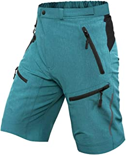 Cycorld Mens Mountain Bike Biking Shorts, Bicycle MTB Shorts, Loose Fit Cycling Baggy Lightweight Pants with Zip Pockets