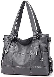 AINUOEY Damen Handtaschen Frauen Schultertaschen Umhängetaschen PU-Leder Bowlingtaschen