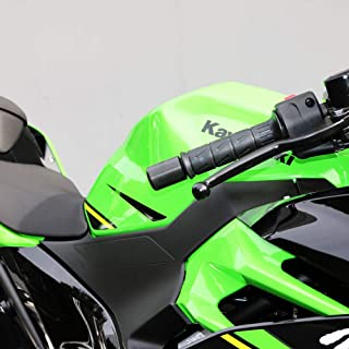 Shogun Kawasaki Ninja 250R 300R 400 Z400 ZX6R Ninja 650 EX650 Ninja 650R ZX7R ZX9R Z1000 ZX10R ZX12R ZX14, ZX14R Ninja 1000 Black Bar Ends - Sliders - 725-1409 - MADE IN THE USA