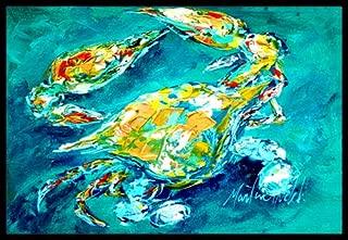 Caroline's Treasures By Chance Crab in Aqua Blue Indoor or Outdoor Mat, 24