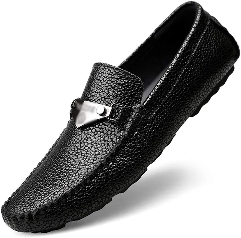 HPLL shoes Men's Business shoes, Casual Boat shoes Work shoes Black Low peas shoes Dress Dress shoes 36-45