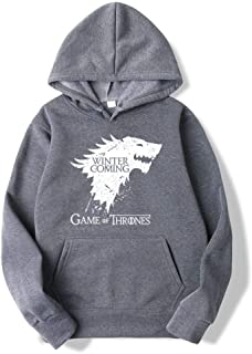 Trendy Faces Game of Thrones Hooded Mens Hoodies and Sweatshirts Oversized for Autumn with Hip Hop Winter Hoodies Men