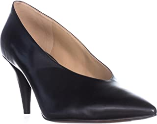 Michael Kors Womens Lizzy Leather Pointed Toe Classic Pumps, Black, Size 7.5