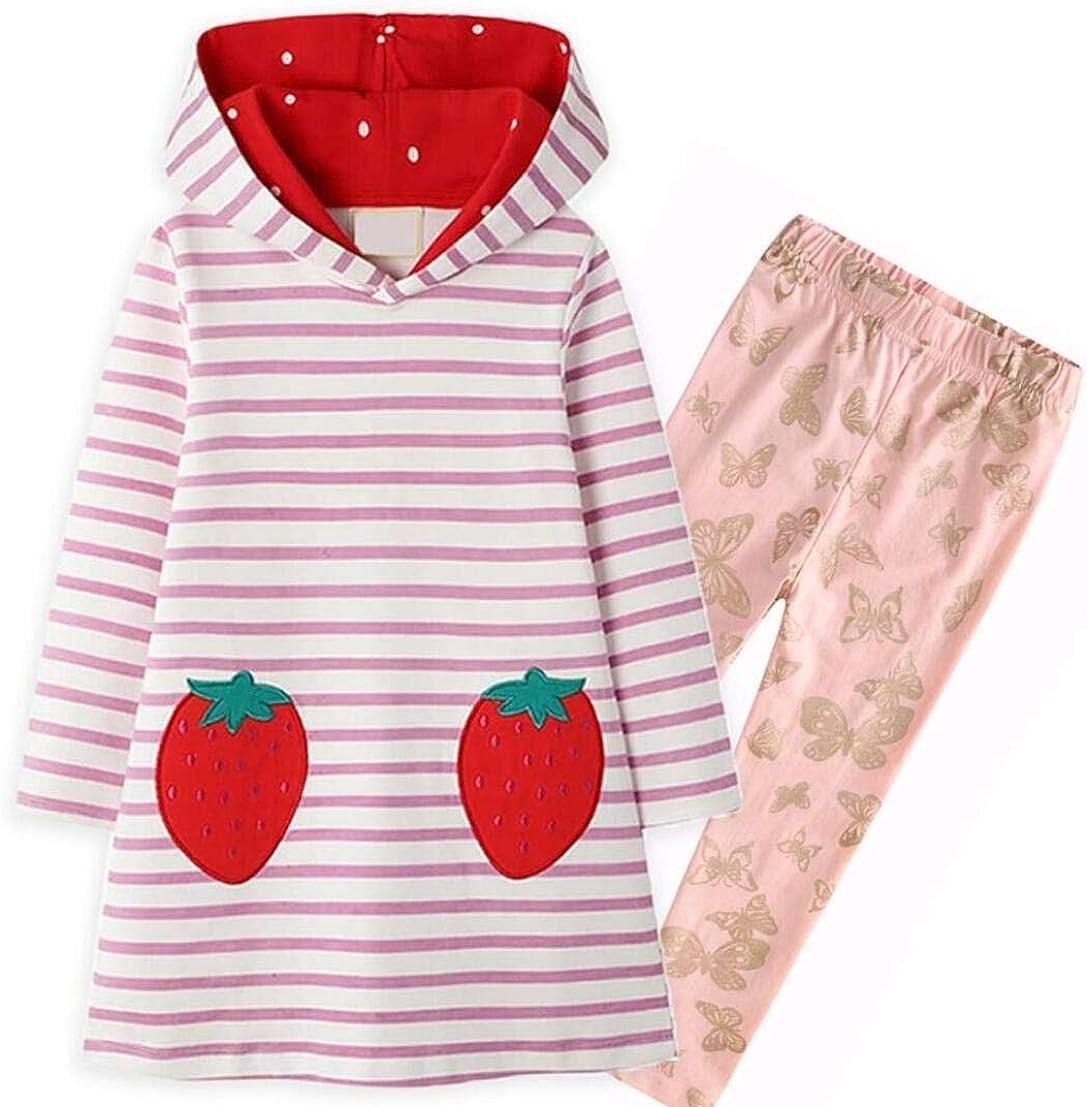 VIKITA Casual Girls Dresses 2pcs JM7167+F5581 4T