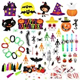 Auney Halloween Party Favor Toys and Decoration Set for Kids, Halloween Toys Assortment for Halloween Party Favors 130 Pieces