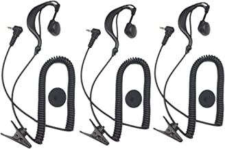 2.5MM 1 Pin G Shape Soft Ear Hook Listen / Receiver Only Earpiece Headset Compatible for 2-way Motorola Icom Ham Kenwood Radio Transceivers, Pack of 3, Lsgoodcare