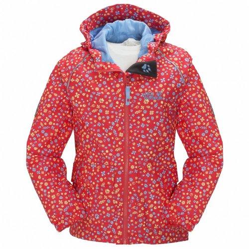 Jack Wolfskin Girls Conkers Jacket, 140/140 Kinder, Grapefruit All Over