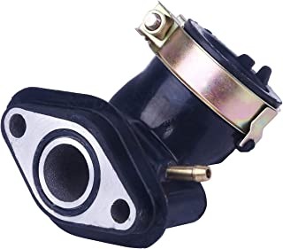 Glixal ATMT1-079 GY6 49cc 50cc Scooter Carburetor Intake Manifold Inlet Pipe for 139QMB 139QMA Engine Moped ATV Go Kart (Single Vaccuum Port)