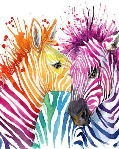 Handaxian Oil Paintings Reproduction Abstract HD Prints Wall Decor Classic Artwork for Home & office Decoration-Animal zebra(70x110cm) Frameless