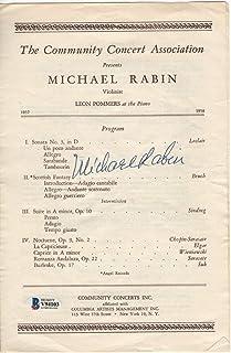 Michael Rabin Signed Autographed Concert Program 1950s Violinist BAS V94103