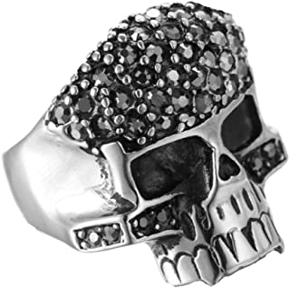 Fashion Stainless Steel Jewelry Stainless Steel Ring for His Wedding Ring Skull Size 11