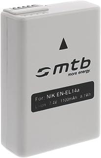 Batería EN-EL14a Compatible con Nikon DF D3300 D5300 D5500 / Coolpix P7800 [con Infochip optimizado de firmware - 7.4V - 1100 mAh]