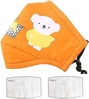 Fashion Cute Washable [1pcs] Dustproof cotton for Child Reusable contain with [2Pcs] Filter Replaceable (Orange)