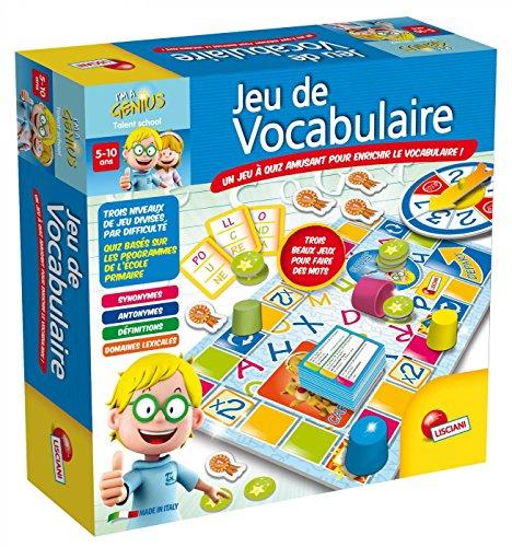 Lisciani - I'm a Genius Talent School - Jeu De Vocabulaire - Un jeu-questionnaire éducatif et amusant sous forme de parcours pour les enfants à partir de 5 ans pour enrichir le...