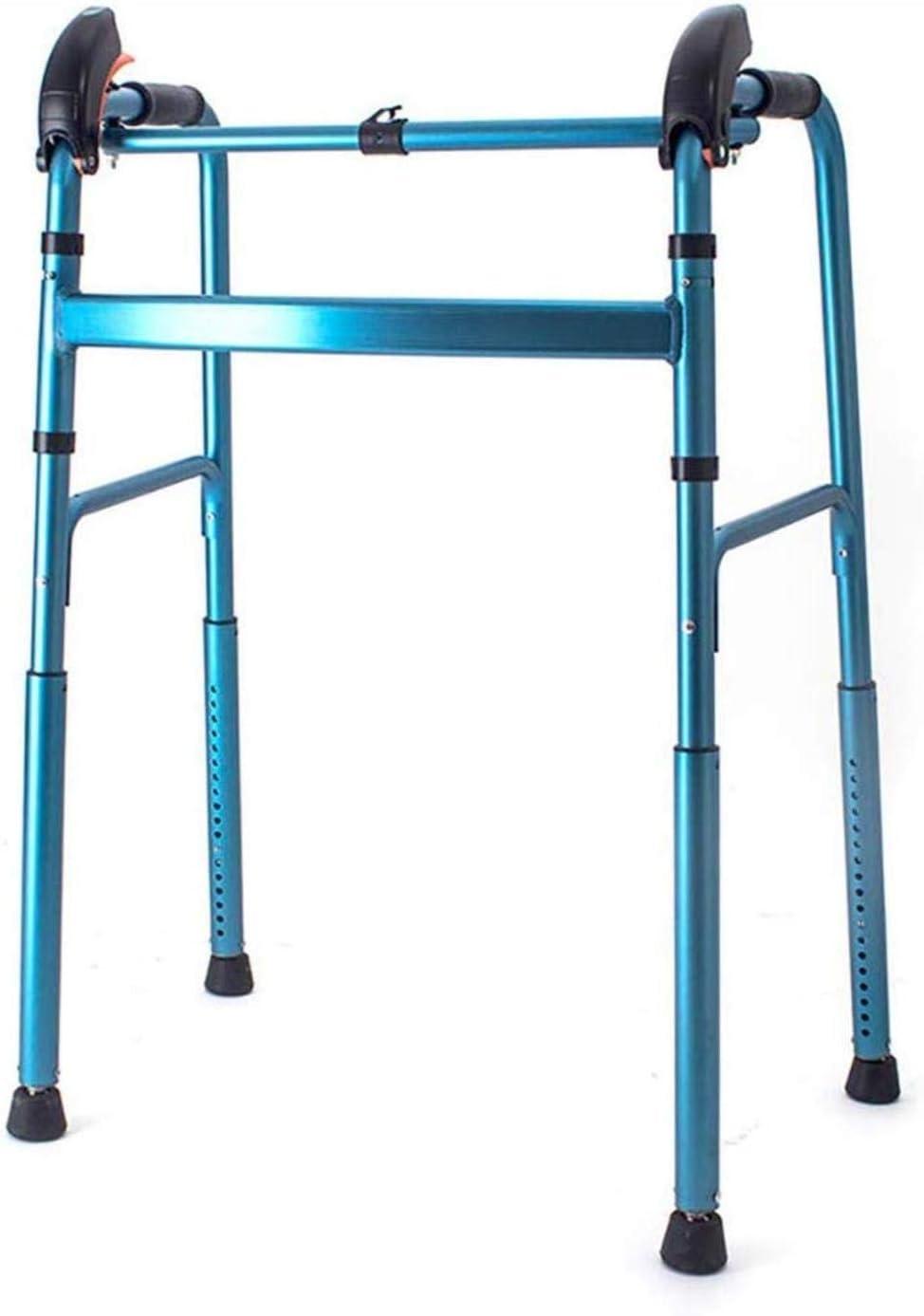 Walking Frame Aluminum Alloy Rollator Walkers Seniors unisex Long-awaited Foldin for