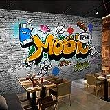 ZPDM 3D Schälen und Einfügen Wandaufkleber 15 Größen Vliesstoff oder Vinyl Wandgemälde - Modern Backsteinmauer Farbe Graffiti - Tapete Wandmalerei Wandkunst Selbstklebende Wandbild Essen und Trinken C